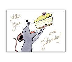 """""""Alles Gute zum Geburtstag"""" mit hungriger Maus - http://www.1agrusskarten.de/shop/alles-gute-zum-geburtstag-mit-hungriger-maus/    00024_0_2735, Geburtstag Maus, Geburtstags Blumen, Geschenkbeileger Torte, Grusskarte, Klappkarte, Kuchen, süß00024_0_2735, Geburtstag Maus, Geburtstags Blumen, Geschenkbeileger Torte, Grusskarte, Klappkarte, Kuchen, süß"""