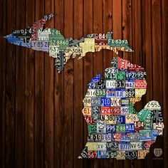 Michigan Counties License Plate Map | Flickr - Photo Sharing!