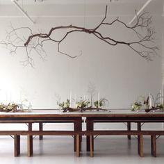 Tree Branch Decor a lou blass original metal sculpture branch chandelier | branch