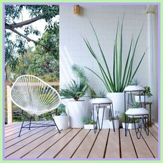 Balcony Plants home-#Balcony #Plants #home Please Click Link To Find More Reference,,, ENJOY!! Outdoor Plants, Outdoor Spaces, Outdoor Gardens, Outdoor Living, Indoor Planters, White Planters, Indoor Herbs, Wall Planters, Container Gardening