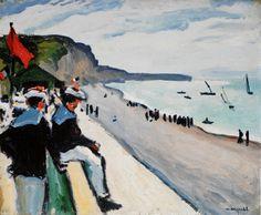 Albert Marquet, The Beach at Fécamp, 1906, Oil on canvas, 50 x 61 cm, Musée National d'Art Moderne de Paris