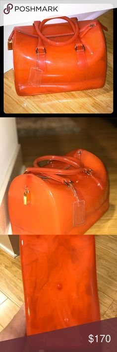 Furla Candy Bag Orange Candy Bag. Good as new, used only once. Furla Bags
