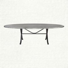 """Zinc Alloy 52"""" x 90"""" Oval Dining Table with Arvada Base"""