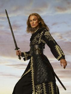 "Keira Knightley as ""Elizabeth Swann"" in Pirates of the Caribbean: At World's End The Pirates, Pirates Of The Caribbean, Keira Knightley Pirates, Cosplay, Pirate Queen, Pirate Life, Captain Jack, Pride And Prejudice, Johnny Depp"