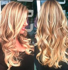Golden dirty blonde hair with highlights