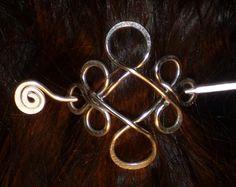 SMALL CELTIC BROOCH Hair Pin or Shawl Pin For Scarf by Kedikekik, $16.00