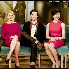 Colin O'Donoghue -Killian Jones - Captain Hook and Co Star Jennifer Morrison - Emma Swan on Once Upon A Time