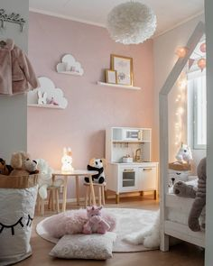 Pink is the perfect colour for girl's bedroom! Discover more pink inspirations. Pink is the perfect colour for girl's bedroom! Discover more pink inspirations with Circu furniture for kids' bedroom: CIRCU. Pink Bedroom For Girls, Big Girl Bedrooms, Little Girl Rooms, Girl Toddler Bedroom, Ikea Girls Room, Baby Girl Bedroom Ideas, Kids Bedroom Ideas For Girls Toddler, Ikea Toddler Room, Childrens Bedrooms Girls