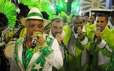 Intérpretes da Mocidade Independente de Padre Miguel soltam a voz na Sapucaí