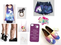 """""""UNICORNS ARE AWESOME"""" by poppysgirl41 ❤ liked on Polyvore"""