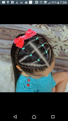 25 ideas baby girl hairstyles with rubber bands Lil Girl Hairstyles, Cute Hairstyles For Kids, Princess Hairstyles, Pretty Hairstyles, Braided Hairstyles, Rubber Band Hairstyles, Toddler Hairstyles, Braids For Kids, Girls Braids