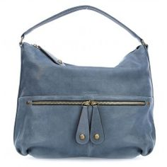 wardow.com - #blue #trend #bag #fashion #GerardDarel Le Midday Beuteltasche fein genarbtes Schafsleder blau