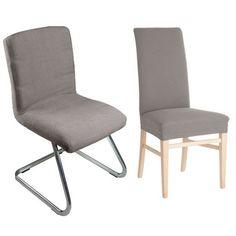 Auralum® Elegant Elastische Stuhlhusse Stuhlüberzug sehr pflegeleicht und langlebig in Grau