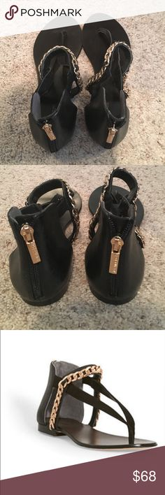Rachel Roy Black Leather Sandals EUC. Not worn, perfect condition. Perfect for summer! Rachel Roy Shoes Sandals