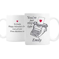 The Big Card Company Personalised Just My Type Valentines Mug Valentines Mugs, Cute Valentines Day Gifts, Personalized Valentine's Day Gifts, Card Companies, Just Me, Craft Gifts, Special Gifts, Make It Simple, Unique Gifts