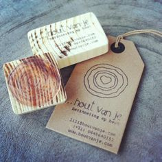 Business cards with seal stamps, www.houtvanje.com