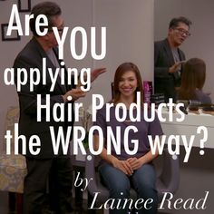 Are You Applying Products the Wrong Way? on Bangstyle, House of Hair Inspiration
