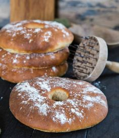 Bokashi, Fika, Doughnut, Bread Recipes, Scones, Tart, Rolls, Food And Drink, Desserts