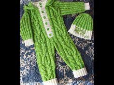 New knitting baby jumpsuit ideas Jumpsuit Pattern, Jacket Pattern, Easy Knitting Patterns, Knitting Designs, Baby Knitting, Crochet Baby, Baby Boy Booties, Crochet T Shirts, Knit Baby Dress