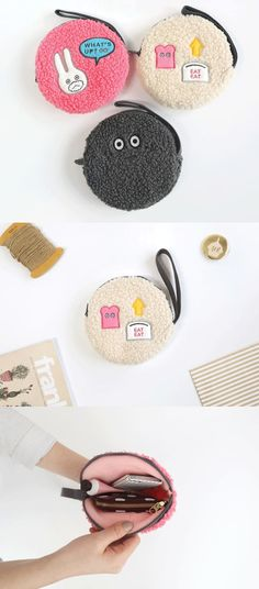 The Brunch Brother Round Pouch is a cute and unique pouch to help you carry your items! The pouch has a colorful and really adorable design, and the round shape makes it easy to insert/remove your items!