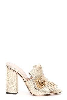 GUCCI sandali in pelle 'Galassia' gold shoes from Gucci a summer must gave. Buy now on our website