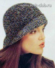 Вязание шляпки из меланжевой пряжи