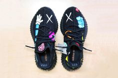 KAWS x Yeezy BOOST 350 Hand-painted Customs Kanye West Daniel Cordas