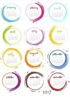 I thought I would do a different version of the CD circle calendar. Just playing around with inky circles. I wanted to see how easy it would be to create a one-sheet version at the same time. Tu…