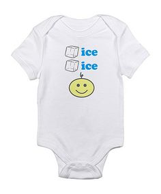 Take a look at this Cloud White 'Ice Ice' Baby Smiley Face Bodysuit - Infant by CafePress on #zulily today!