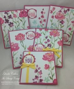 Painted Blooms DSP, Painted Petals stamp set, Occasions 2015 Stampin' Up! www.thestampcamp.com