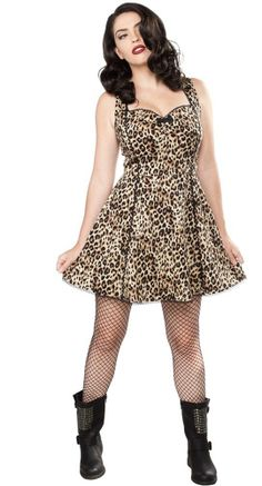 The vintage-inspired Lucille Dress features a classic leopard print pattern that will have any rockabilly gal swooning! #Blamebetty #PinUp