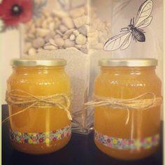 washi tape honey jars