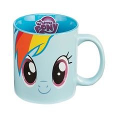 There's no problem you can't solve, and no business that you can't handle, when you're summoning your inner Pegasus pony with our Rainbow Dash Mug! Coupled with your morning cup of jet fuel, and this