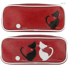 CAT - Love this RED MAKE-UP PENCIL POUCH! #cat #cats #PencilPouch