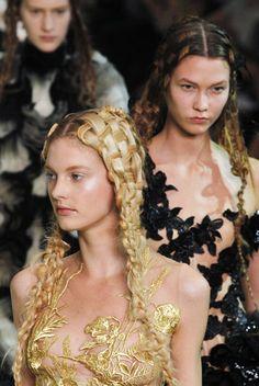 woven hair at Alexander McQueen