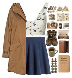 """ramblin man"" by serendipityagain ❤ liked on Polyvore featuring Blonde + Blonde, H&M, Woolrich, Mulberry, Timberland Boot Company, Timex, LSA International, nature and rugged"