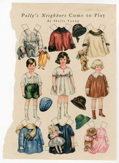 86.3055: Polly's Neighbors Come to Play | paper doll | Paper Dolls | Dolls | National Museum of Play Online Collections | The Strong