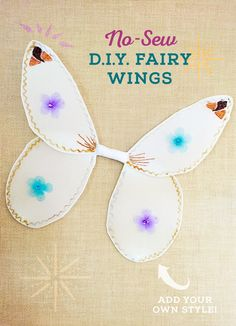 Create your own No-Sew DIY Fairy Wings!  Inspired by Strange Magic – In theatres January 23rd