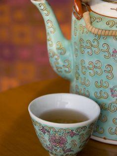 Traditional Chinese teapot and cup, Hong Kong, China Photographic Print