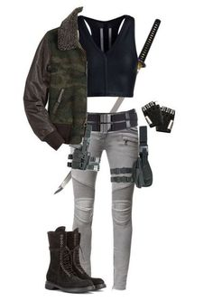 """""""Zombie Apocalypse - Outfit"""" by slightlyterrified  liked on Polyvore featuring Tom Ford, Balmain, Rick Owens and Majesty Black Zombie Apocalypse Outfit, Mode Apocalypse, Apocalypse Fashion, Zombie Apocalypse Survival, Apocalypse Aesthetic, Fandom Outfits, Emo Outfits, Casual Outfits, Fashion Outfits"""