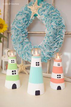 Lighthouse Craft: Summer Foam Lighthouse: FloraCraft® Make It: Fun® Foam Cones