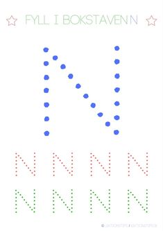 Lär dig skriva hela alfabetet med dessa färgglada bokstäver i färgerna röd, grön och blå – Lektionstips Activities For Kids, Letters, Teaching, Education, School, Barn, Montessori, Bulgaria, Children