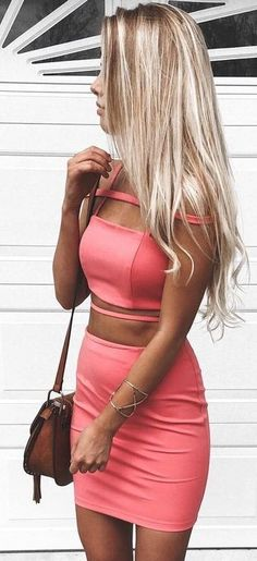 Pink Top And Skirt Set | Kelsey Floyd