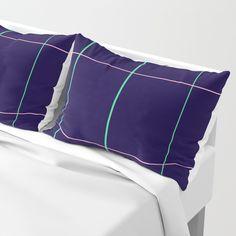 Grid Dimension Pillow Sham by Bravely Optimistic | Society6