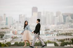 San Francisco Engagement Photographer: Golden Gate Park and Potrero Hill: Jenn + Brian