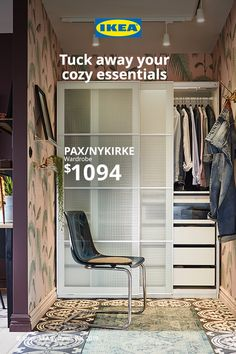Keep your cozy layers within reach with storage essentials. Paint Colors For Living Room, Paint Colors For Home, Walk In Shower Enclosures, Closet Remodel, Pax Wardrobe, Interior Paint Colors, Ikea Furniture, My New Room, Modern Interior Design