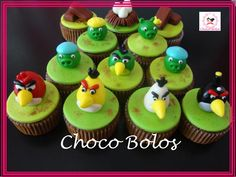 Angry Birds Angry Birds, Cupcakes, Desserts, Food, Tailgate Desserts, Cupcake Cakes, Deserts, Essen, Postres