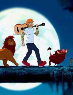 ed sheeran, disney, and hakuna matata Bild ~ omg this is adorable ^-^ Music Ed, Music Stuff, Edward Christopher Sheeran, Ed Sheeran Love, Lego House, The A Team, Edd, Disney Characters, Fictional Characters