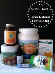 10 Must Haves for Your Natural First Aid Kit ... it's a good idea to have some simple + basic essentials in your first aid kit, just in case. | Recipes to Nourish: