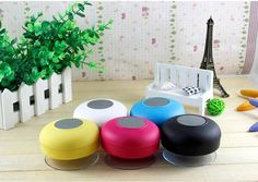 The white one - Brisget Small Speakers, Wireless Speakers, Bluetooth, Shower Speaker, Technology Gadgets, Futuristic Technology, Christmas Wishes, Christmas Gifts, Cool Items